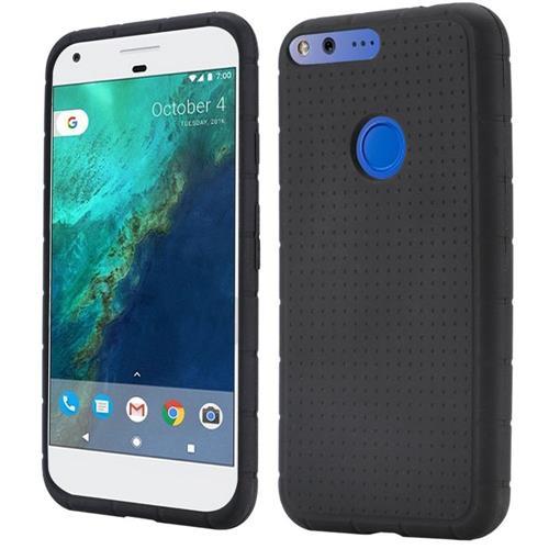 Insten Rugged Gel Rubber Cover Case For Google Pixel XL, Black