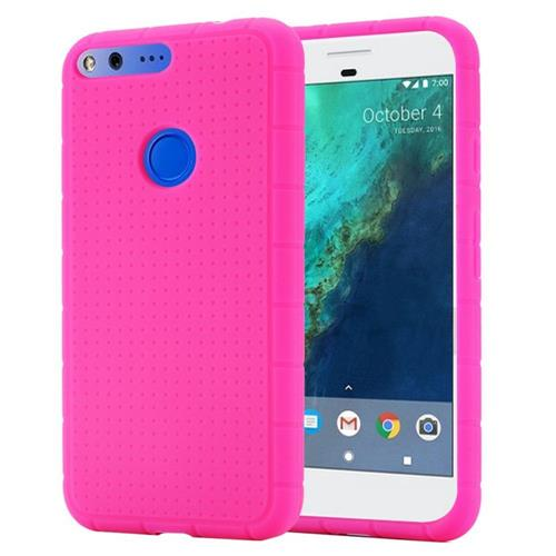 Insten Rugged Soft Rubber Cover Case For Google Pixel XL, Hot Pink