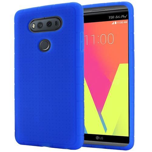 Insten Rugged Soft Rubber Case For LG V20, Blue