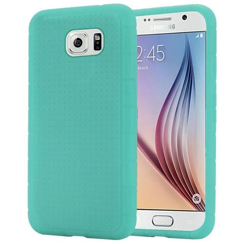 Insten Rugged Gel Rubber Case For Samsung Galaxy S6, Teal