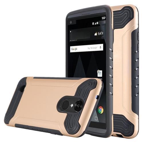Insten Hard Hybrid TPU Cover Case For LG Aristo/K8 (2017), Gold/Black