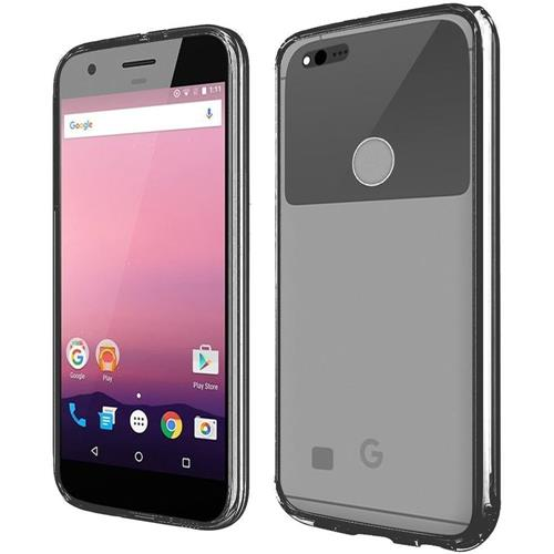 Insten Gel Case For Google Pixel, Clear/Black