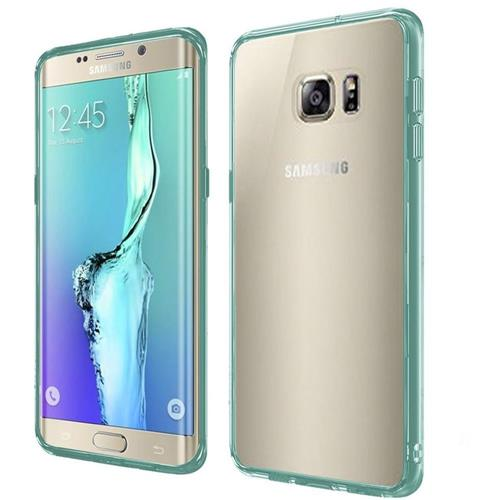 Insten Hard Dual Layer Crystal TPU Cover Case For Samsung Galaxy S6 Edge Plus, Clear/Teal