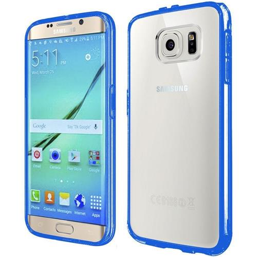 Insten Fitted Soft Shell Case for Samsung Galaxy S7 Edge - Clear/Blue