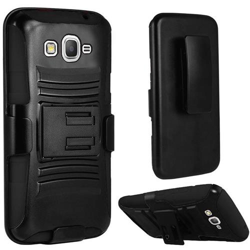 Insten Holster Case for Samsung Galaxy Amp Prime; J3 - Black