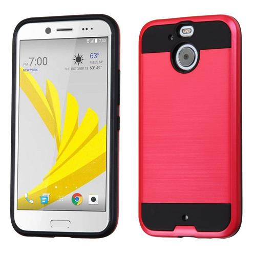 Insten Hard Hybrid TPU Case For HTC Bolt, Red/Black