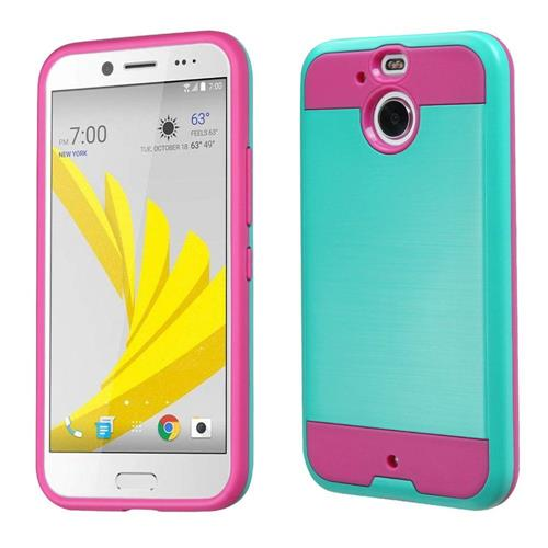 Insten Hard Dual Layer TPU Cover Case For HTC Bolt, Teal/Pink