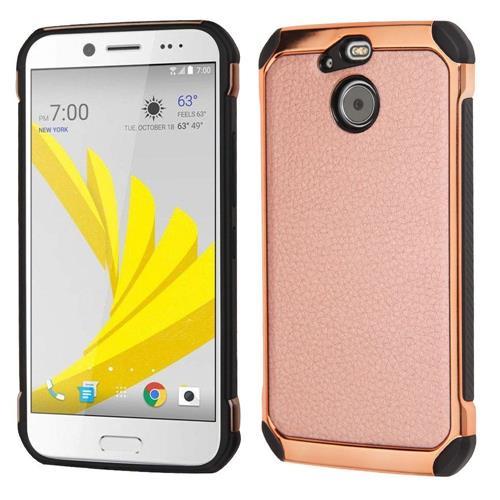 Insten Hard Hybrid TPU Case For HTC Bolt, Rose Gold/Black