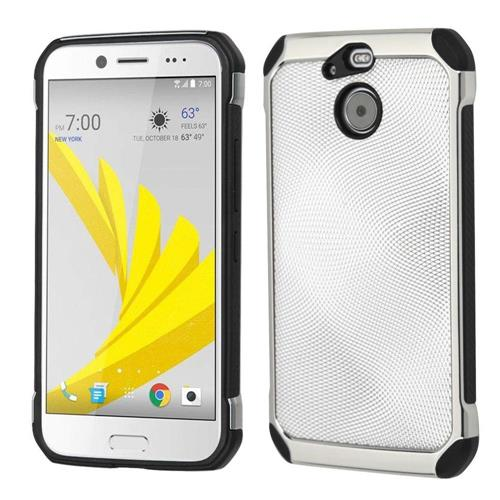 Insten Hard Hybrid TPU Case For HTC Bolt, Silver/Black