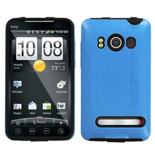Insten Fitted Soft Shell Case for HTC EVO 4G - Blue/Black