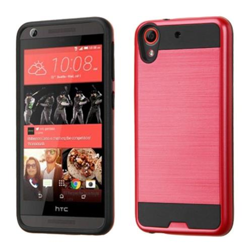 Insten Hard Dual Layer Silicone Case For HTC Desire 626/626s, Red/Black