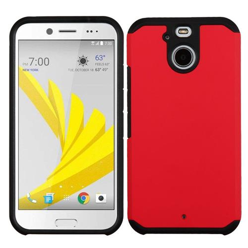 Insten Hard Dual Layer Silicone Cover Case For HTC Bolt, Red/Black