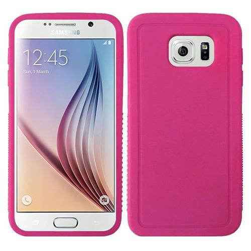 Insten Rugged TPU Cover Case For Samsung Galaxy S6, Hot Pink