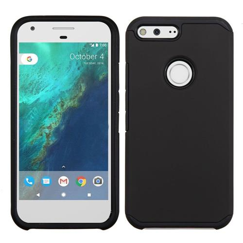 Insten Hard Dual Layer Silicone Case For Google Pixel XL, Black