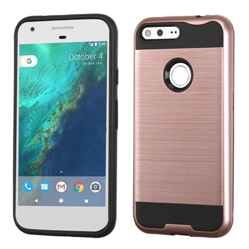 Insten Hard Dual Layer TPU Case For Google Pixel XL, Rose Gold/Black