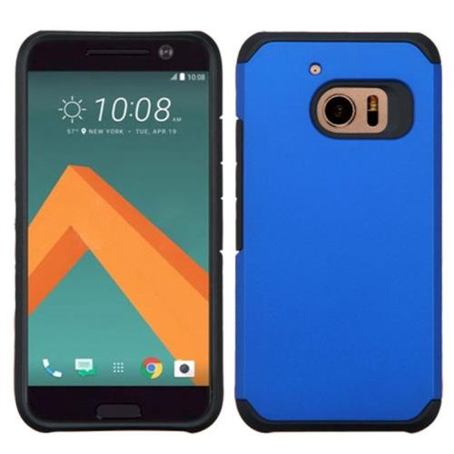 Insten Hard Dual Layer Rubber Silicone Cover Case For HTC One M10, Blue/Black