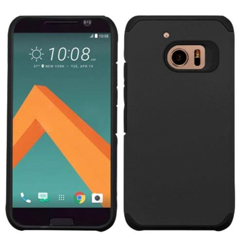 Insten Hard Dual Layer Silicone Case For HTC One M10, Black