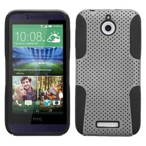 Insten Hard Dual Layer Silicone Case For HTC Desire 510, Gray/Black