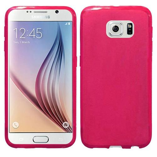 Insten Frosted Gel Cover Case For Samsung Galaxy S6, Hot Pink