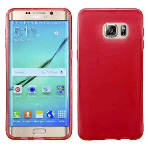 Insten Frosted Gel Cover Case For Samsung Galaxy S7 Edge, Red