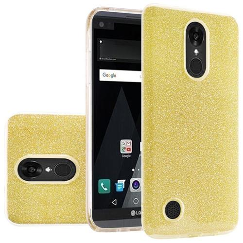Insten Hard Dual Layer Glitter TPU Cover Case For LG Aristo/K8 (2017), Gold