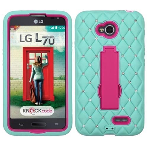 Insten Symbiosis Skin Case For LG Optimus Exceed 2 VS450PP Verizon/Optimus L70, Light Blue