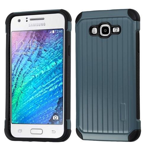 Insten Hard Hybrid TPU Cover Case For Samsung Galaxy J7(2015), Blue/Black