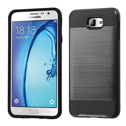 Insten Hard Dual Layer TPU Case For Samsung Galaxy On7(2016), Black