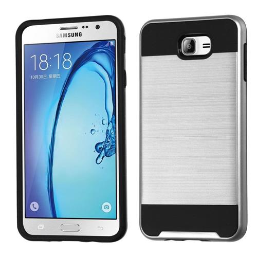 Insten Hard Dual Layer TPU Case For Samsung Galaxy On7(2016), Silver/Black