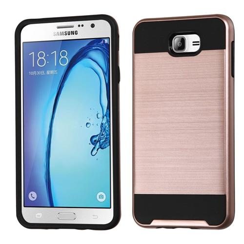 Insten Fitted Soft Shell Case for Samsung Galaxy On7(2016) - Rose Gold/Black