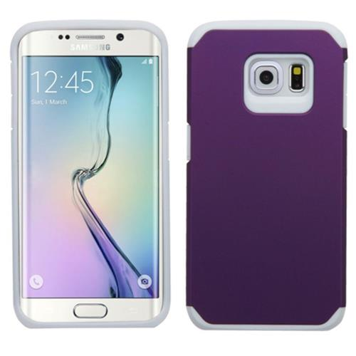 Insten Fitted Soft Shell Case for Samsung Galaxy S6 Edge - Purple/White