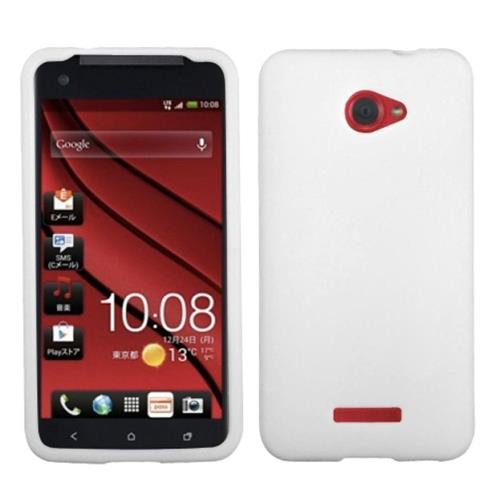 Insten Soft Rubber Case For HTC Droid DNA, White