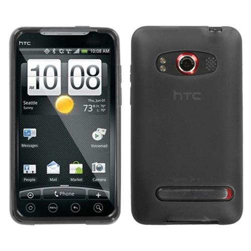 Insten Jelly Gel Transparent Case For HTC EVO 4G, Smoke
