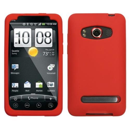 Insten Soft Rubber Case For HTC EVO 4G, Red
