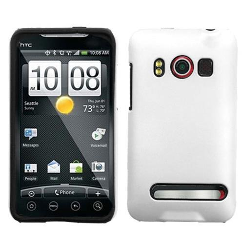 Insten Fusion Hard Hybrid Silicone Case For HTC EVO 4G, White