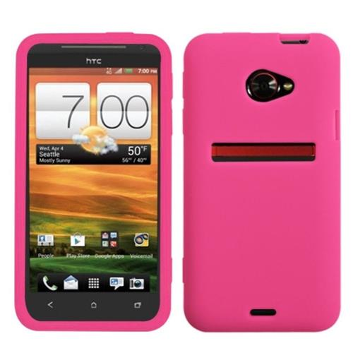 Insten Soft Rubber Case For HTC EVO (LTE version), Pink