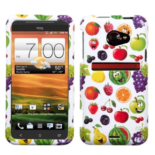 Insten Fruit Paradise Hard Plastic Cover Case For HTC EVO (LTE version), Colorful/White