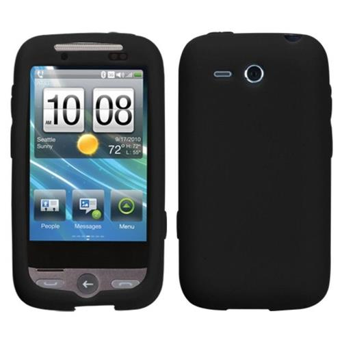 Insten Silicone Rubber Cover Case For HTC Freestyle, Black