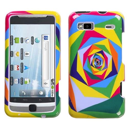 Insten Pop Square Hard Case For HTC Desire Z Hero GSM / T-mobile G2 Touch, Colorful