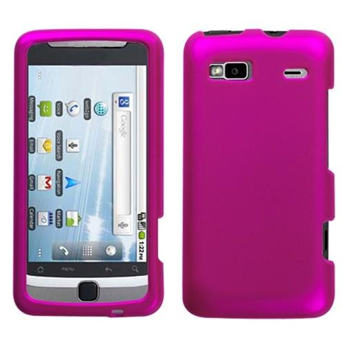 Insten Hard Rubberized Case For HTC Desire Z Hero GSM / T-mobile G2 Touch, Hot Pink