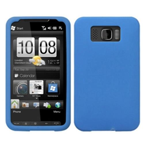 Insten Gel Rubber Case For HTC Leo / Firestone / HD2, Blue