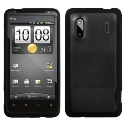 Insten Rubber Case For HTC EVO Design 4G, Clear/Black