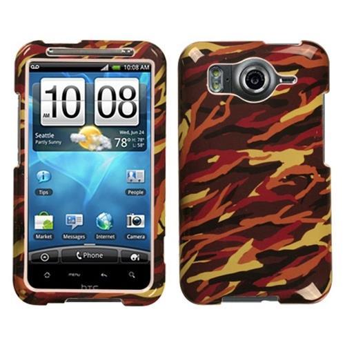 Insten Camo Hard Case For HTC Inspire 4G, Brown