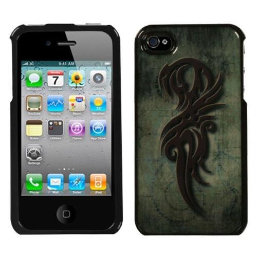 Insten Rune of Power Hard Cover Case For Apple iPhone 4/4S, Black