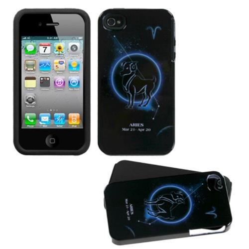 Insten Fusion Hard Hybrid Silicone Case For Apple iPhone 4/4S, Black