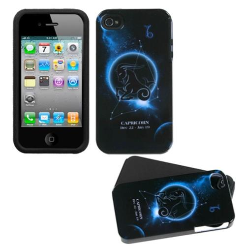 Insten Fusion Hard Dual Layer Silicone Case For Apple iPhone 4/4S, Black