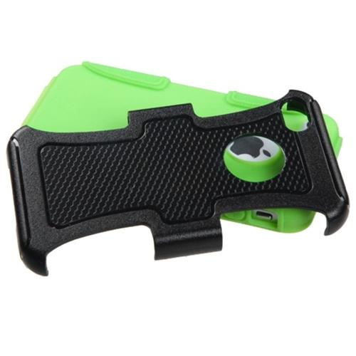 Insten Fusion Hard Hybrid Silicone Case For Apple iPhone 4/4S, Black/Green