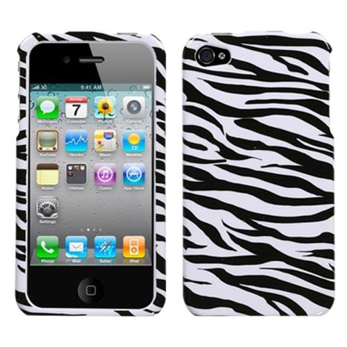 Insten Zebra Hard Case For Apple iPhone 4/4S, Black/White