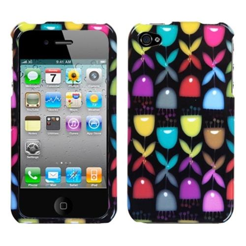 Insten Love Tree Hard Plastic Cover Case For Apple iPhone 4/4S, Colorful/Black