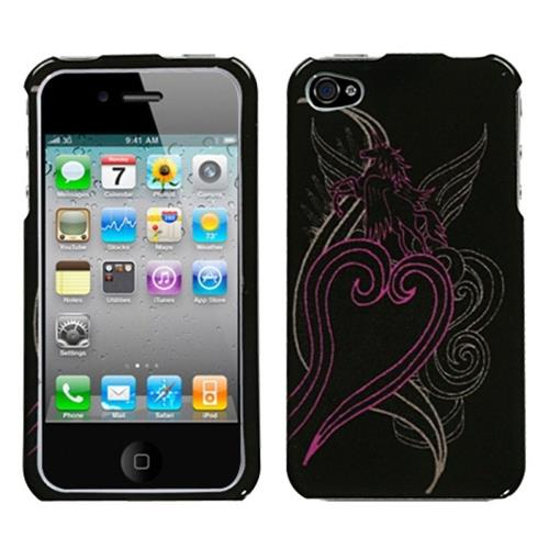 Insten Unicorn Hard Cover Case For Apple iPhone 4/4S, Black